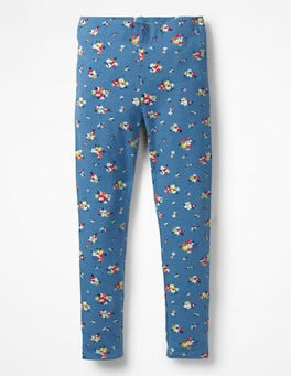 Blue Vintage Posy Fun Leggings