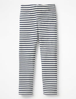 Ecru/School Navy Fun Leggings