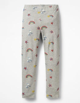 Grey Marl Glitter Disco Fun Leggings