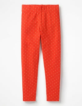 Gladioli Red Ecru Pinspot Fun Leggings