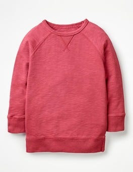 Rose Blossom Pink Longline Sweatshirt