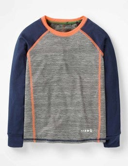 Grey Marl Long-sleeved Active T-shirt