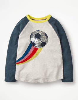 Ivory Football Colour-change Sequin Raglan