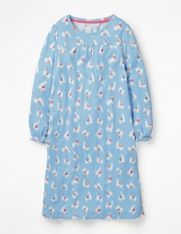 Delphinium Blue Llamas Printed Nightie