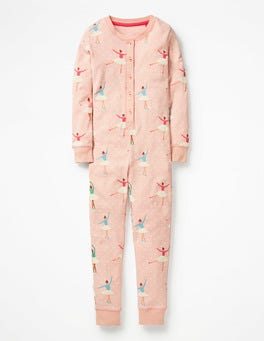 Provence Dusty Pink Ballet Cosy All-in-one Pyjamas