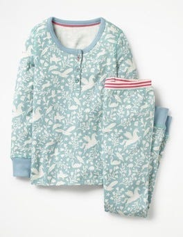 Ice Blue Peculiar Pets Henley Pyjama Set