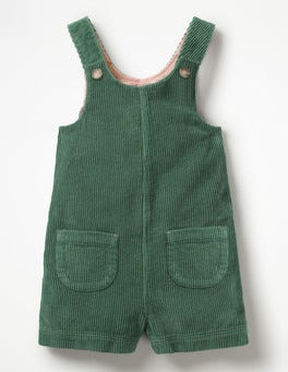 Willow Green Retro Short Dungarees