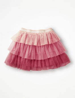 Rose Pink Tiered Tulle Skirt