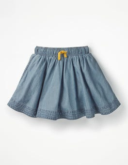 Light Vintage Simple Colourful Skirt