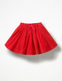 Poppy Red Simple Colourful Skirt