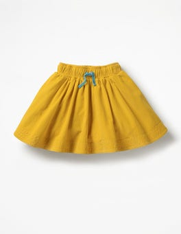 Honeycomb Yellow Simple Colourful Skirt