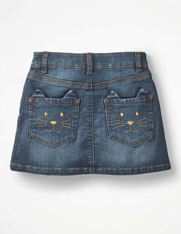 Mid Vintage Novelty Pocket Denim Skirt