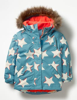 Delphinium Blue Shadow Stars All-Weather Waterproof Jacket