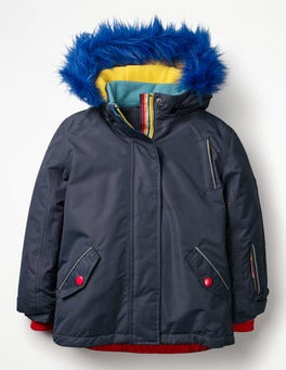 Navy Rainbow All-Weather Waterproof Jacket