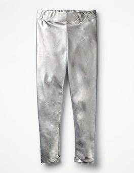 Silver Shiny Leggings