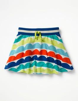 Ivory Rainbow Wave Jersey Skort