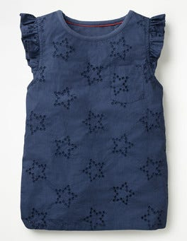 Starboard Blue Broderie Star Top