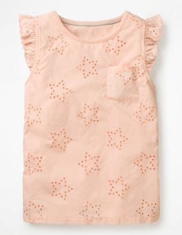 Provence Dusty Pink Broderie Star Top