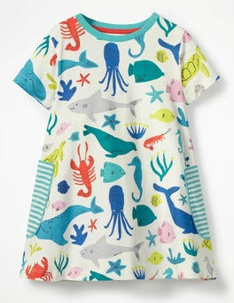 Ivory Under The Sea Colourful Printed Tunic