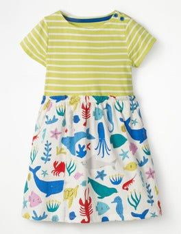 Yellow/Ivory Under The Sea Bright Hotchpotch Jersey Dress