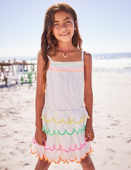 Rainbow Scallop Dress
