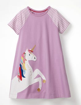 Unicorn Applique Jersey Dress