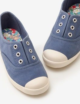 English China Blue Laceless Canvas Shoes