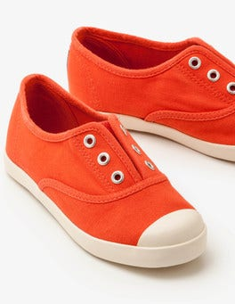 Melon Crush Red Laceless Canvas Shoes