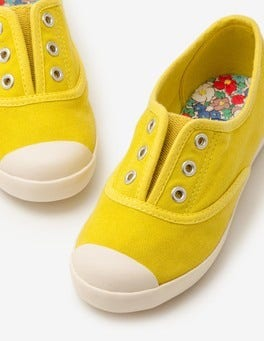 Zest Yellow Laceless Canvas Shoes