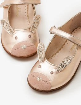 Rose Gold Bunnies Fun Mary Janes