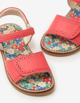 Strawberry Split Pink Leather Padded Sandals