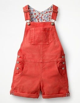 Rosehip Red Short Overalls