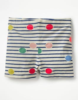 Multi Scattered Spot Jersey Shorts