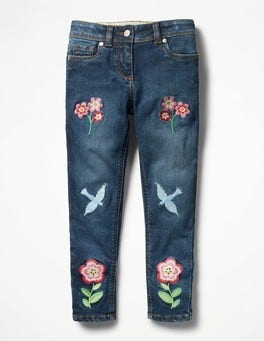 Mid Vintage Embroidered Slim Fit Jeans