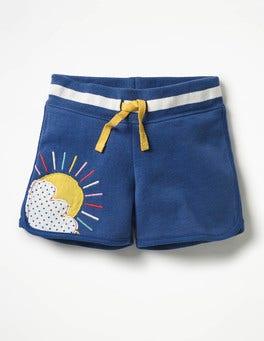 Starboard Blue Sunshine Appliqué Jersey Shorts