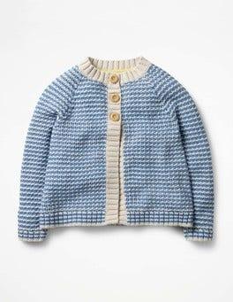 Penzance Blue Stripe Cosy Cardigan