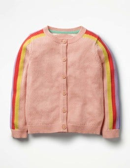 Provence Dusty Pink Rainbow Fun Cardigan