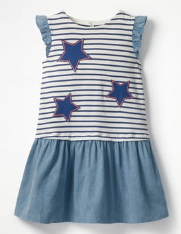 Fun Jersey Woven Dress