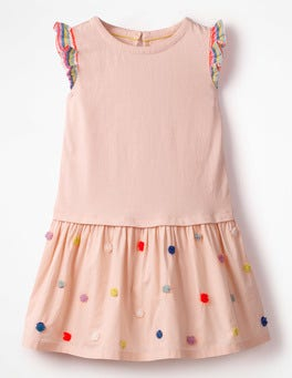 Provence Dusty Pink Fun Jersey Woven Dress