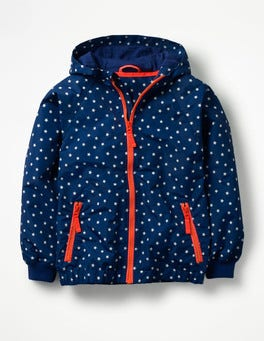 Starboard Blue Stars Patterned Jersey-lined Anorak