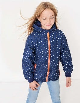 Patterned Jersey-lined Anorak