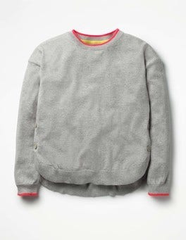 Grey Marl Button Detail Sweater