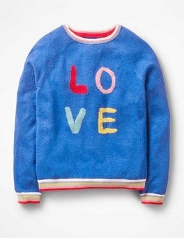 Orion Blue Love Full-of-Character Sweater