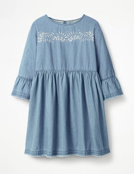 Chambray Floaty Denim Dress