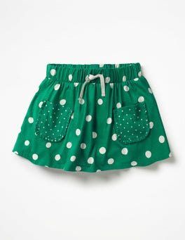Watercress Green Spots Spotty Jersey Skort