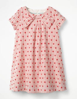 Circus Red Spots Spotty Bow Dress