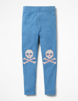 Penzance Blue Crossbones Appliqué Leggings