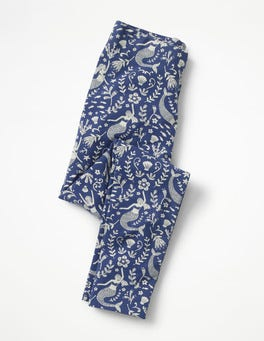 Starboard Blue Mermaid Toile Fun Cosy Leggings