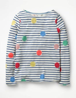 Multi Scattered Spot Colour Pop T-shirt