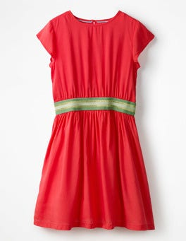 Circus Red Sporty Woven Dress